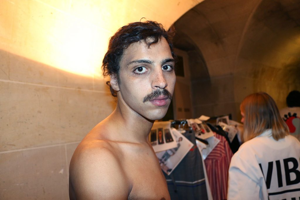 BACKSTAGE HENRIK VIBSKOV MEN'S FASHION SHOW