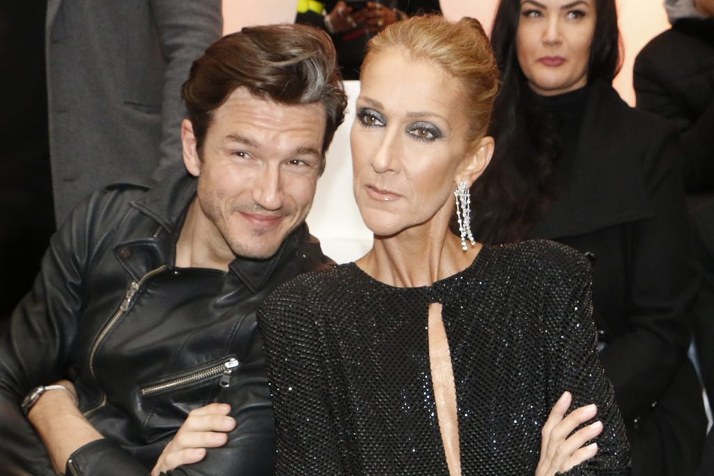 CELINE DION AND PEPE MUNOZ AT THE ALEXANDRE VAUTHIER COUTURE SHOW